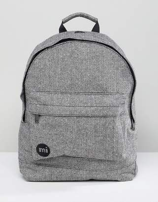 Mi-Pac Herringbone Backpack In Gray