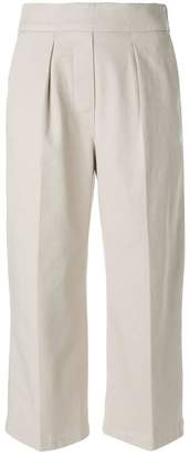 Fabiana Filippi front pleat cropped trousers