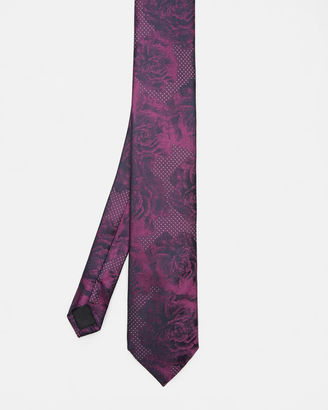 Spotted rose silk tie $105 thestylecure.com