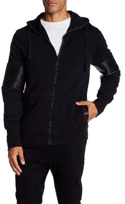 Rogue Coated Ribbed Sleeve Inset Hoodie