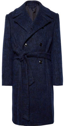 Piombo MP Massimo Double-Breasted Virgin Wool-Blend Overcoat