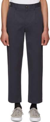 Noah NYC Navy Single Pleat Trousers