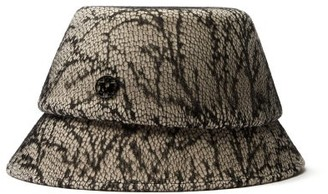 Maison Michel Souna Lace Covered Felt Bucket Hat - Womens - Cream
