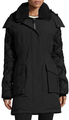 Canada Goose Elwin Hooded Parka Jacket W/ Removable Shearling Collar