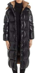 Moncler Parnaiba Long Quilted Down Puffer Coat