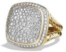 David Yurman Albion® Ring With Diamonds In 18K Gold