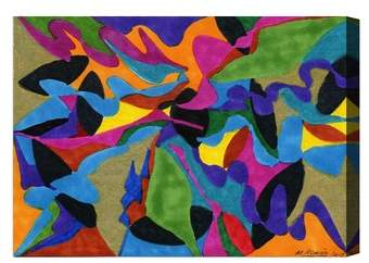 Winding Rivers Canvas Wall Art