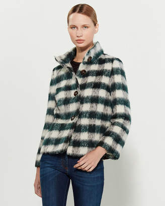 Mariella Rosati Textured Gingham Coat