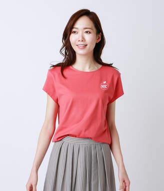 NEWYORKER women's 【アウトレット】コットン天竺 アップルモチーフドルマンTシャツ