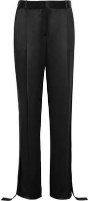 Givenchy Wide-Leg Pants In Black Silk-Satin