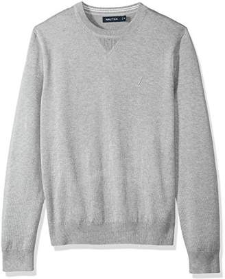 Nautica Men's Light Weight Crew Neck Solid Sweater