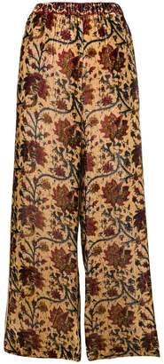 Mes Demoiselles wide leg floral trousers