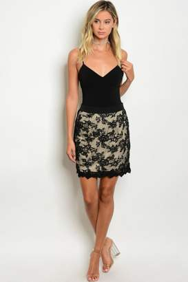 People Outfitter Black Lace Skirt