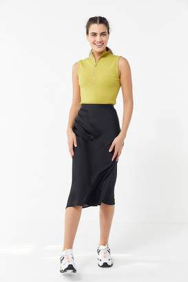 Urban Outfitters Serene Satin Midi Skirt