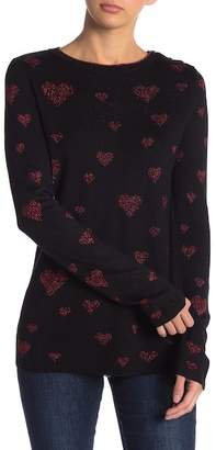 Desigual Frica Heart Print Sweater