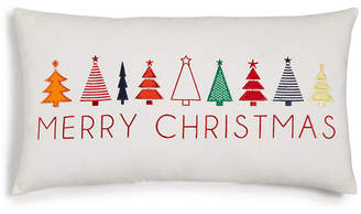 "Holiday Lane Merry Christmas"" Trees 22"" x 12"" Pillow, Created for Macy's"