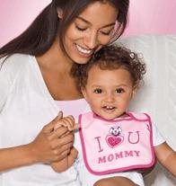 Tiny Tillia Valentine's Day Personalizable Bib