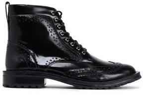 Zimmermann Perforated Glossed Leather Boots