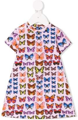 Versace butterfly print dress