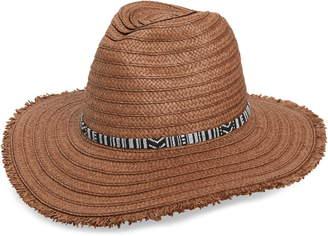 Treasure & Bond Frayed Edge Straw Panama Hat