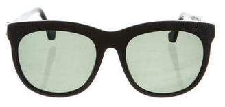 Balenciaga Textured Round Sunglasses
