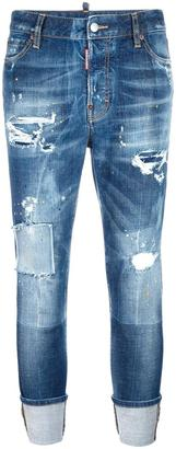 Dsquared2 London stonewashed ripped jeans $735 thestylecure.com
