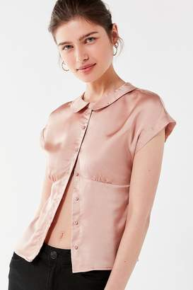 Urban Outfitters '50s Button-Down Silk Blouse