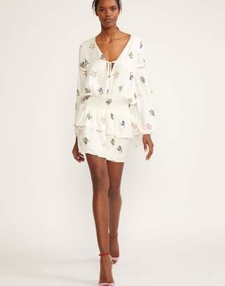 Cynthia Rowley Celia Smocked Waist Mini Dress
