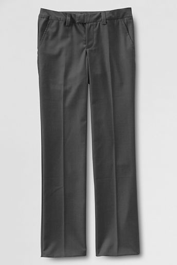Lands' End NQP Girls' Plain Front Dress Pants