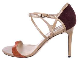 Charles David Patent Leather Ankle Strap Sandals