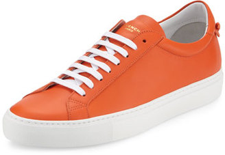 Givenchy Urban Low-Top Street Sneaker, Orange $495 thestylecure.com