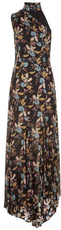 Ava Asymmetric Floral Dress
