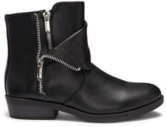 Sam Edelman 'Becka Tessa' double zip faux leather kids boots