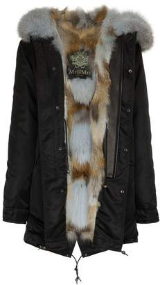 Mr & Mrs Italy fox fur trimmed parka