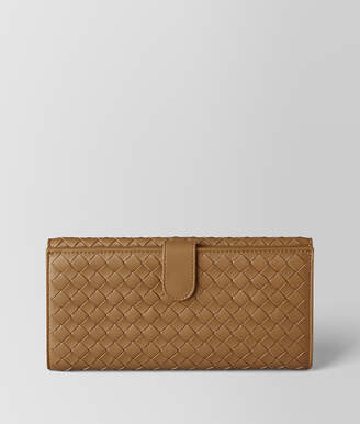 Bottega Veneta CAMEL INTRECCIATO NAPPA FRENCH WALLET