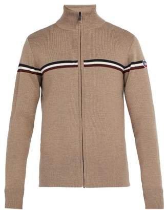Fusalp - Wengen Fiz Ii Zip Up Wool Sweater - Mens - Camel