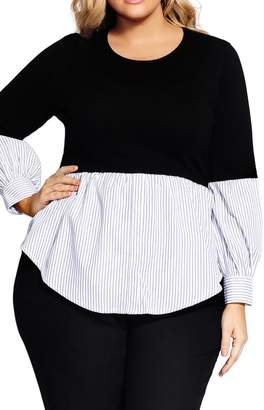 City Chic Layer Look Top