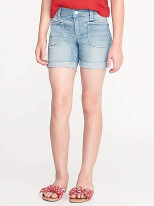 Old Navy Utility Pocket Denim Midi Shorts for Girls