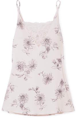 Hanro Camile Lace-trimmed Printed Modal-jersey Camisole - Cream