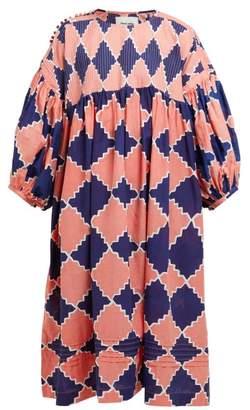 story. Mfg - Mon Diamond Print Organic Cotton Dress - Womens - Blue Multi