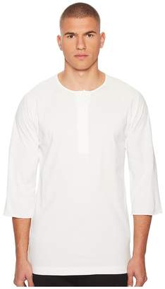 Yohji Yamamoto Stripe Henley Tee Men's T Shirt