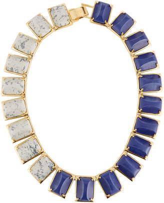 Lele Sadoughi Gardenia Colorblocked Statement Collar Necklace
