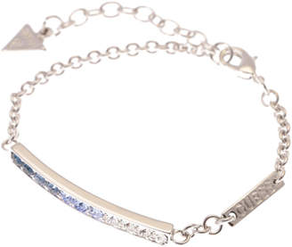 GUESS (ゲス) - ゲス GUESS B-BLUE CRYSTAL RAINBOW BRACELET (SILVER)
