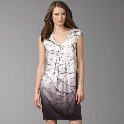 Vince Origami Ombré Mini Dress