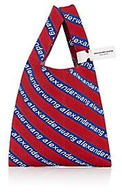 Alexander Wang Women's Logo Knit Shopping Tote Bag - Red, Blue, White