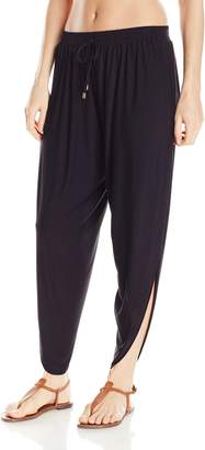 Laundry by Shelli Segal Women's Solid Draped Pant Cover Up