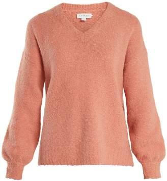 Velvet by Graham & Spencer Erin V-neck bouclé sweater