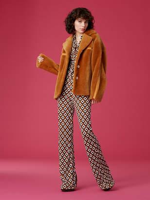 Diane von Furstenberg Indie Shearling Jacket