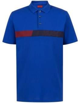 HUGO Boss Regular-fit polo shirt in cotton logo artwork M Blue