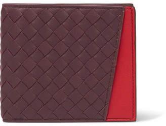 Bottega Veneta Two-Tone Intrecciato Leather Billfold Wallet